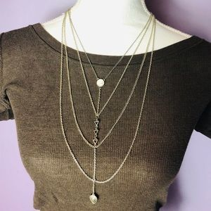 Jewelry - Sale 2/$30-Necklace w/ silver & white accents-NWOT